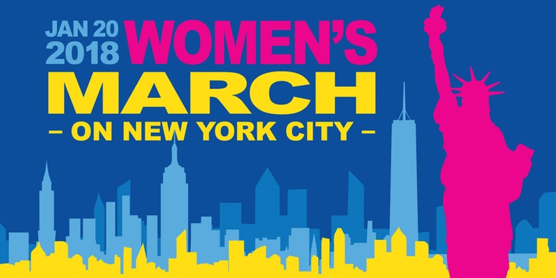 2018 Flyer for the Women's March in NYC