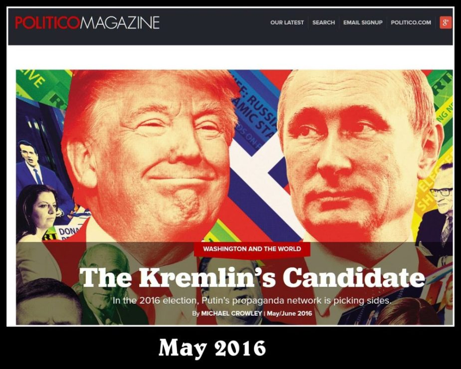 June 2016 Politico Graphic of Putin and Trump
