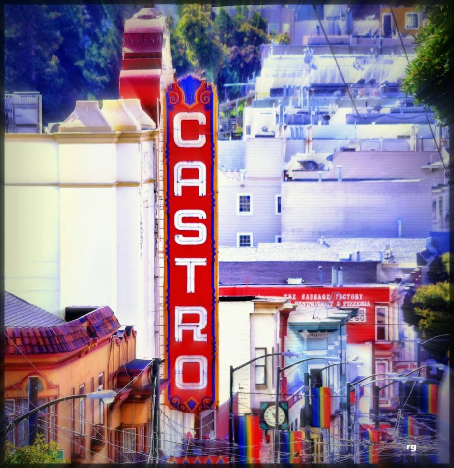 Photograph of the Castro Theater as seen from Divisidero Avenue in San Francisco
