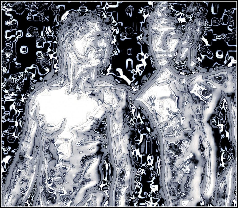 Digital Art based om a publlic domain image of two shirtless men