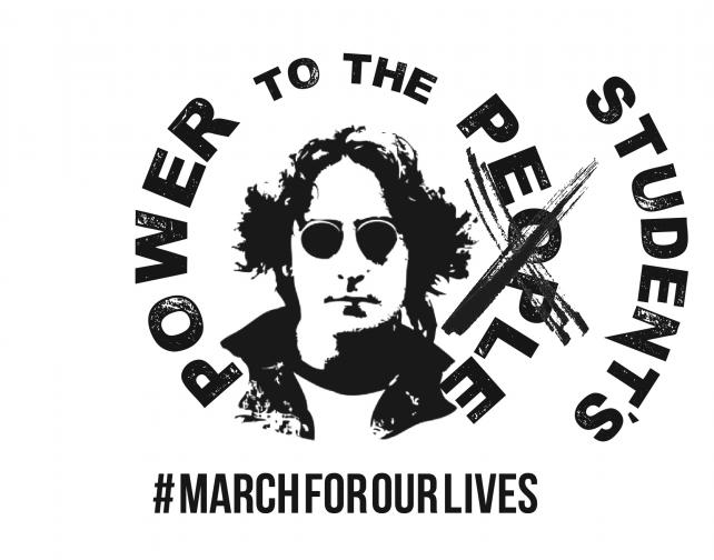 power to the people John Lennon March for our Lives