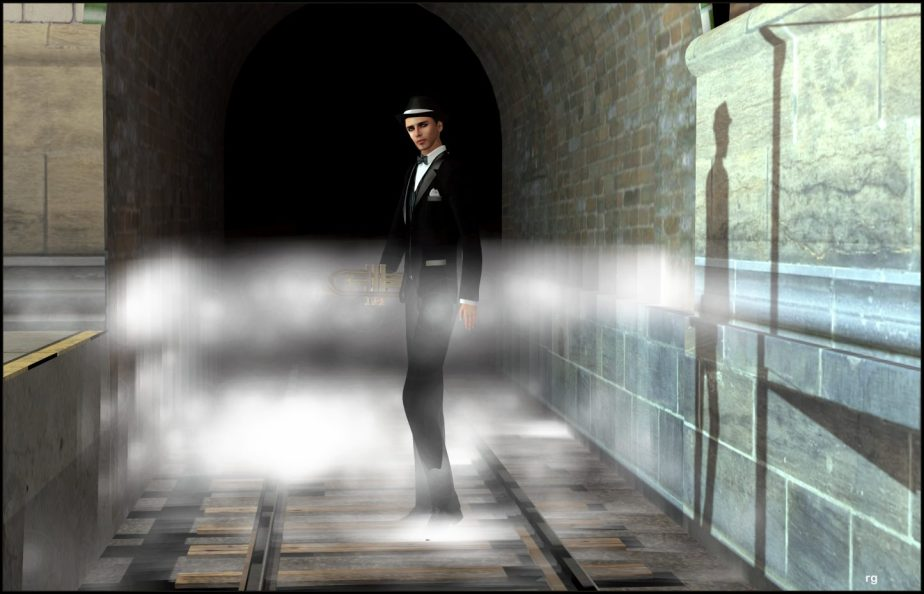 Digital Photo of an avatar that represents Rudolph Valentino in Teagan Geneviene's Jazz Age Wednesday story