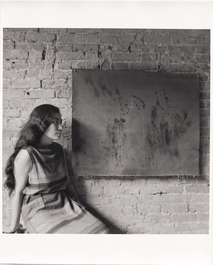 Photo of Yoko Ono 'Painting to See in the Dark' (1961).