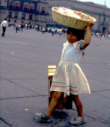Girl in Mexico City, Oct. 1991 - Bruce Witzel photo