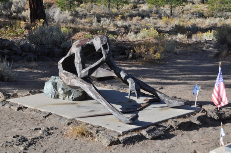 Living Memorial Sculpture Garden near Weed california