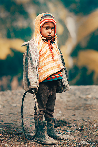 Portrait of a boy from Himachal Pradesh