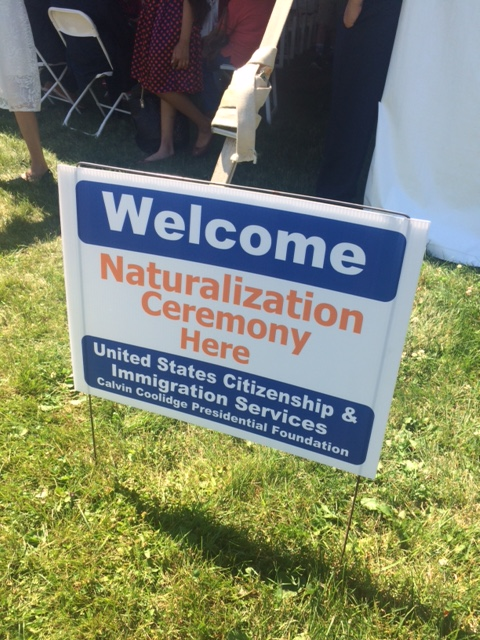 naturalization ceremony sign