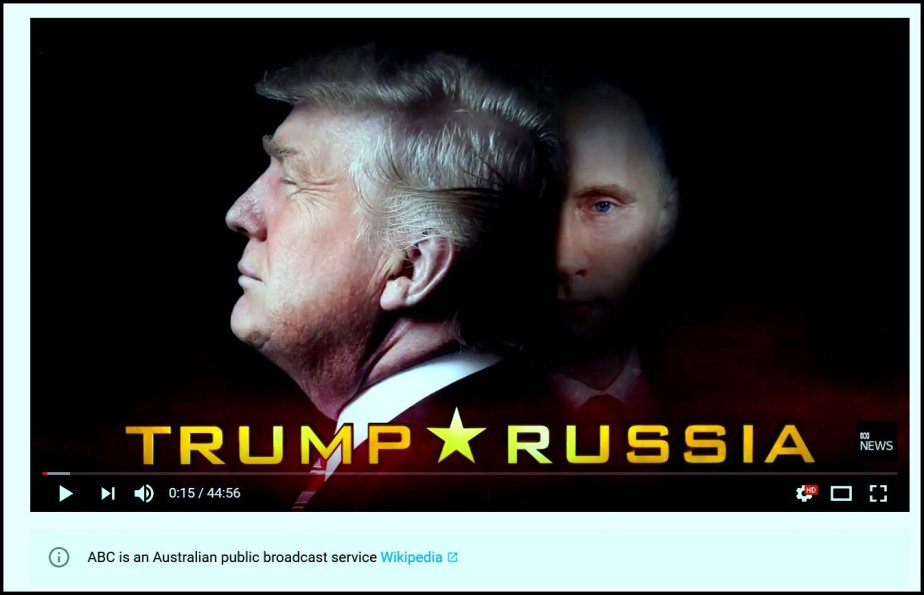 Screenshot from an Australian Expose of Trump Russia