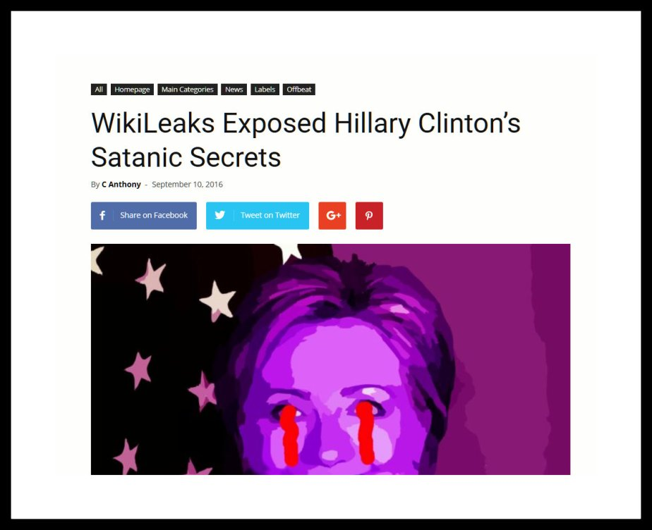 Wikileaks BOMBSHELL Reveals that Hillary Clinton is Satanic!