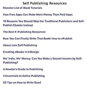 Self Publishing Resources from Espressographics…