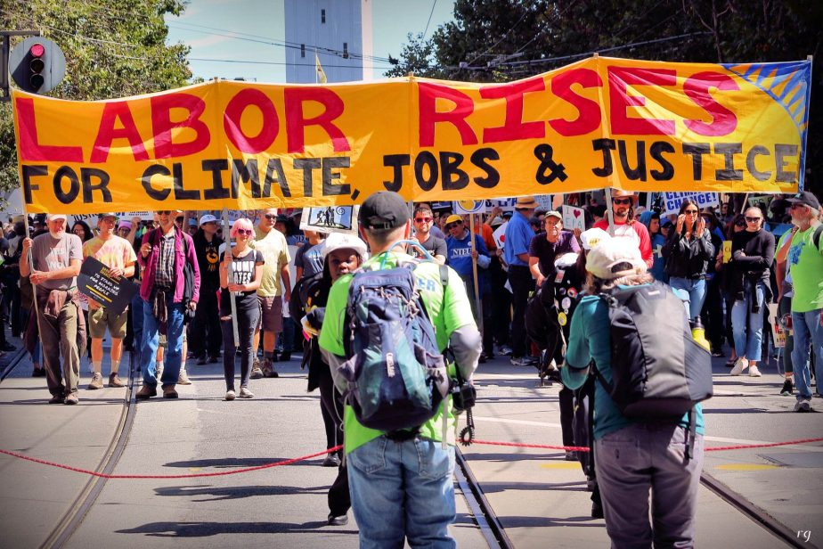 Labor Rises at the march For Climate March in San Francisco