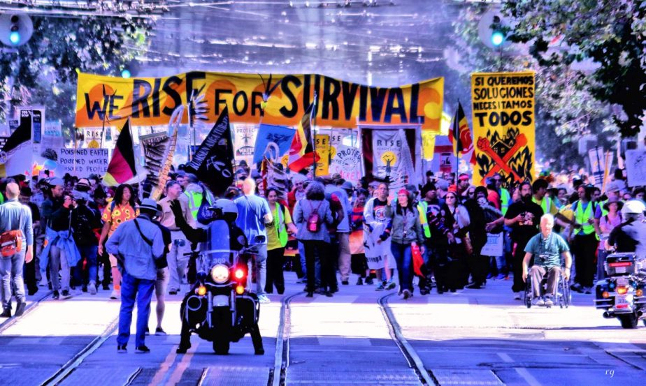We Rise for Survivalat the march For Climate March in San Francisco