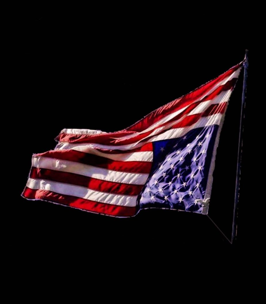 A meme of the American Flag Upside Down, in distress, found on twitter