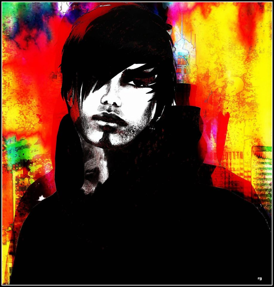 Digital Painting based on an in game portrait of an avatar