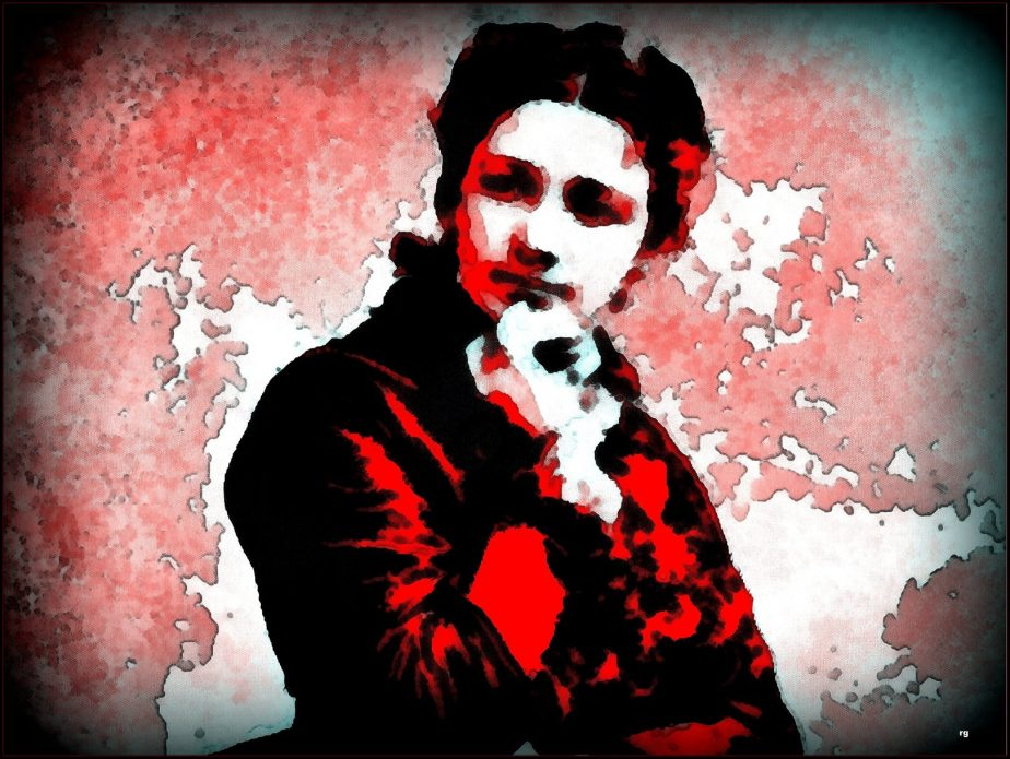 Digital Painting of Victoria Claflin Woodhull