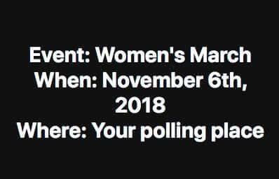 Join a March to your polling place this November 6th.
