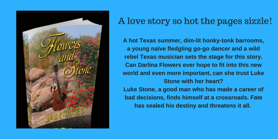 The cover and description of Flowers and Stone by Jan Sikes