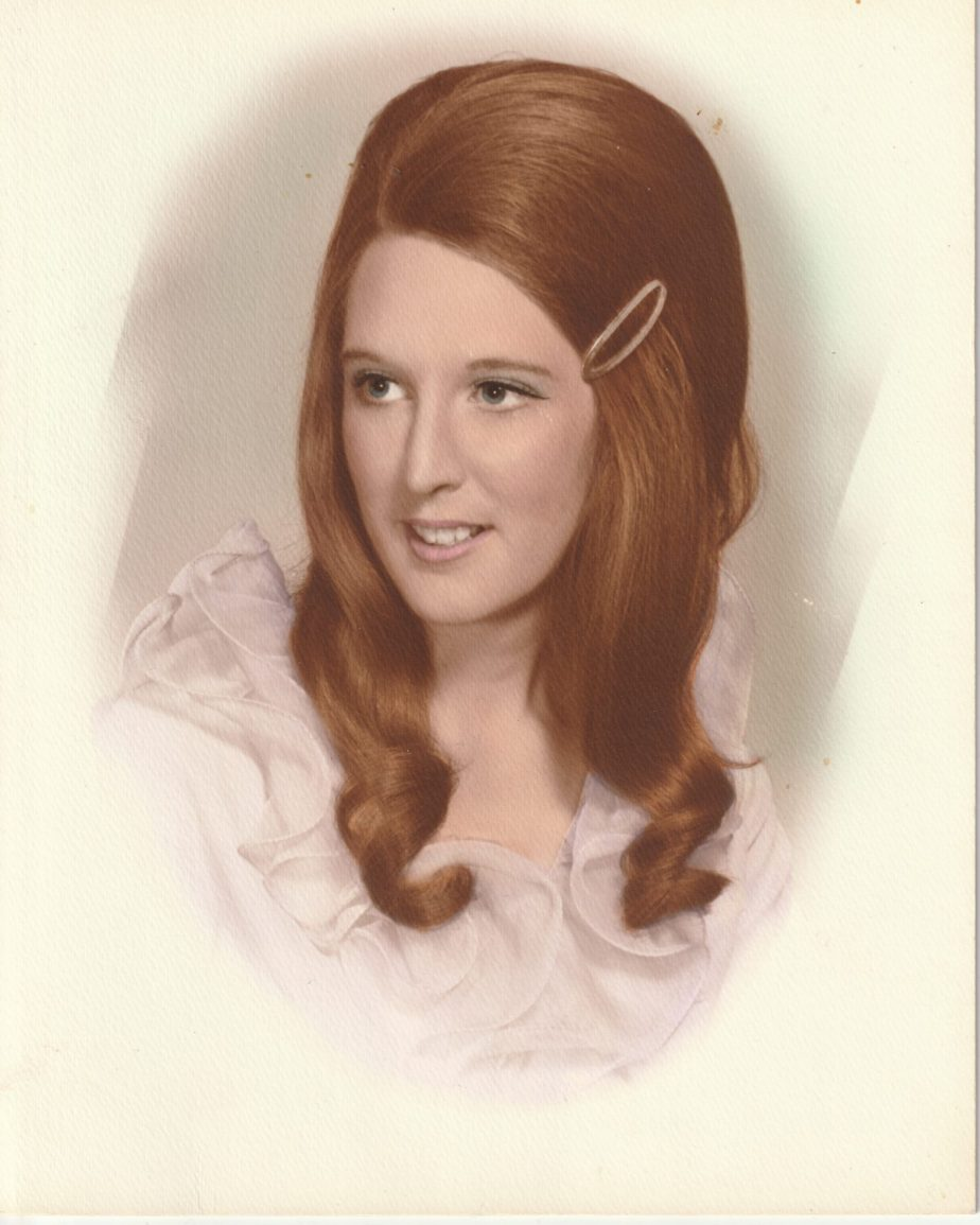 Portrait of Jan Sikes as a young woman in the 11960's