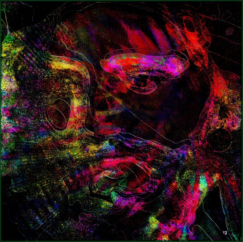 Abstract Portrait of Christ based on a digtial scan