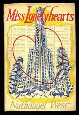 This is the front cover art for the book Miss Lonelyhearts written by Nathanael West. The book cover art copyright is believed to belong to the publisher, Liveright, or the cover artist.