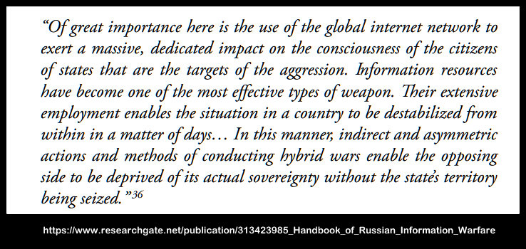 Handbook of Russian Information Warfare - Loss of Sovereignty