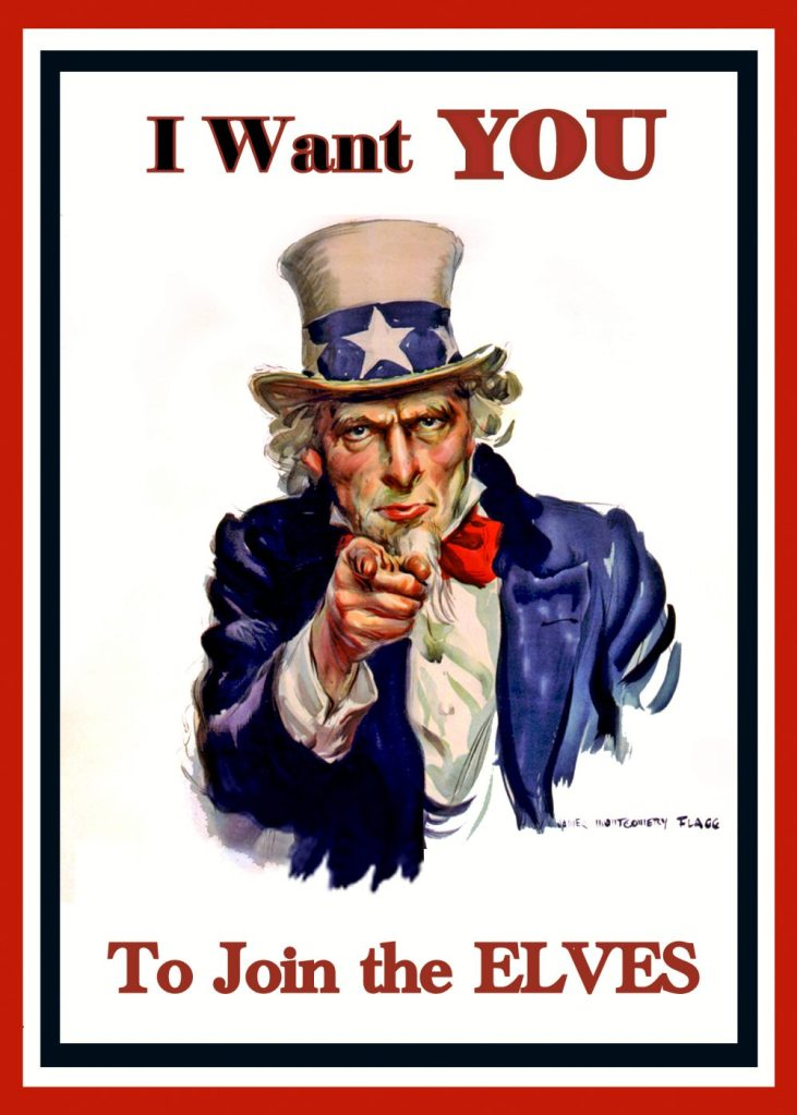 An Uncle Sam Poster made from a template in the public domain