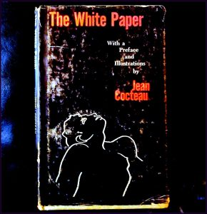 The book cover of the White Paper by Jean Cocteau