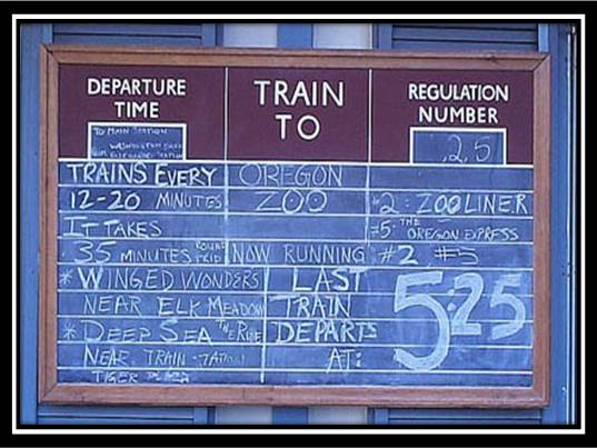 Train schedule Blue