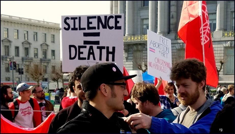 Photograph of a sign that reads Silence - Death