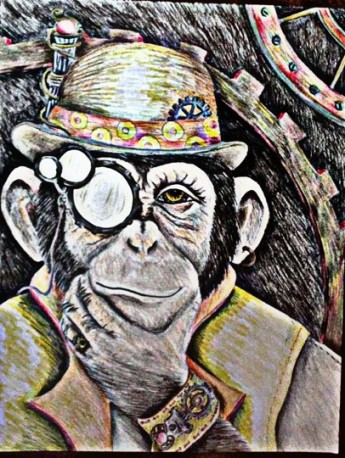 Artie sketch thinking color steampunk