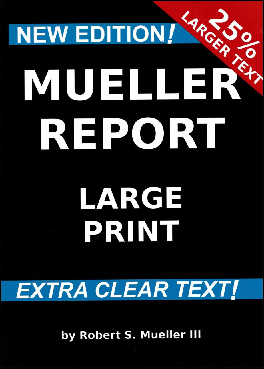 A scan of the book cover of #TheMuellerReport