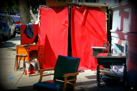 A tent on 17th Street, Sept 2020-